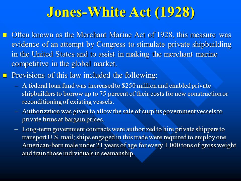 Jones-White Act (1928)