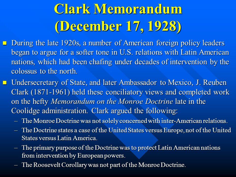 Clark Memorandum (December 17, 1928)