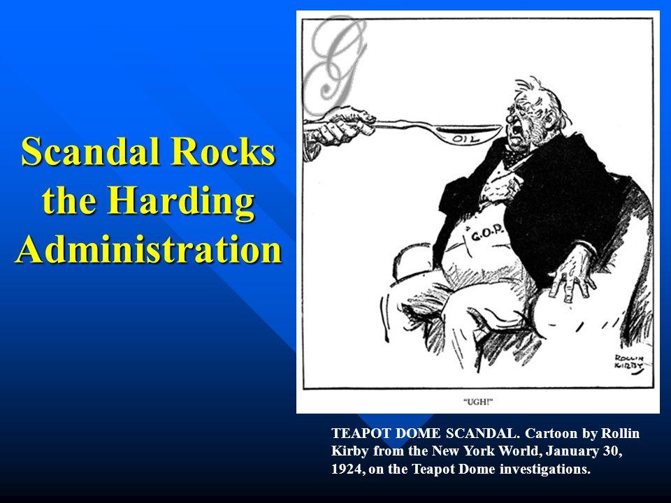 Scandal Rocks the Harding Administration