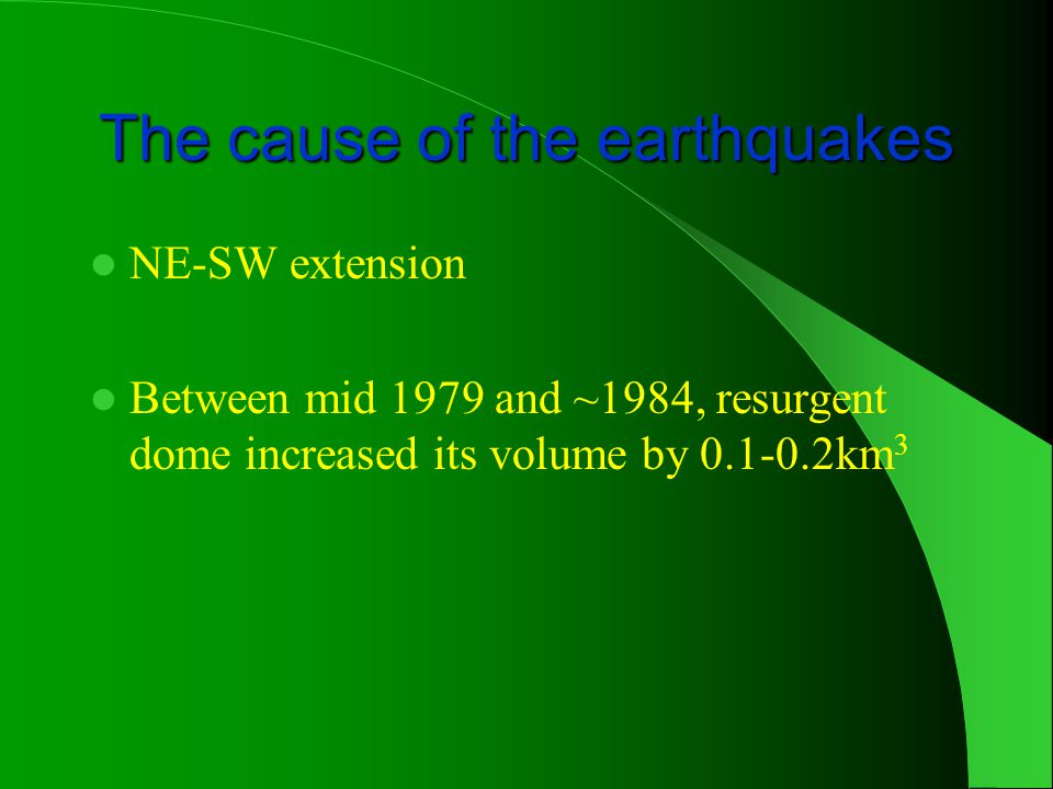 The cause of the earthquakes