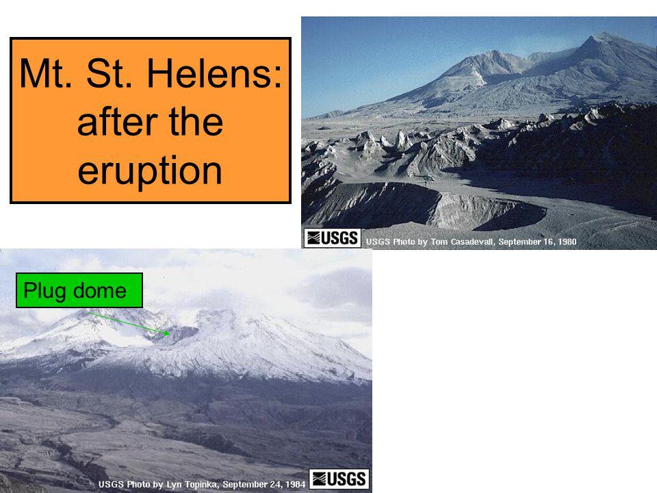 Mt. St. Helens: after the eruption