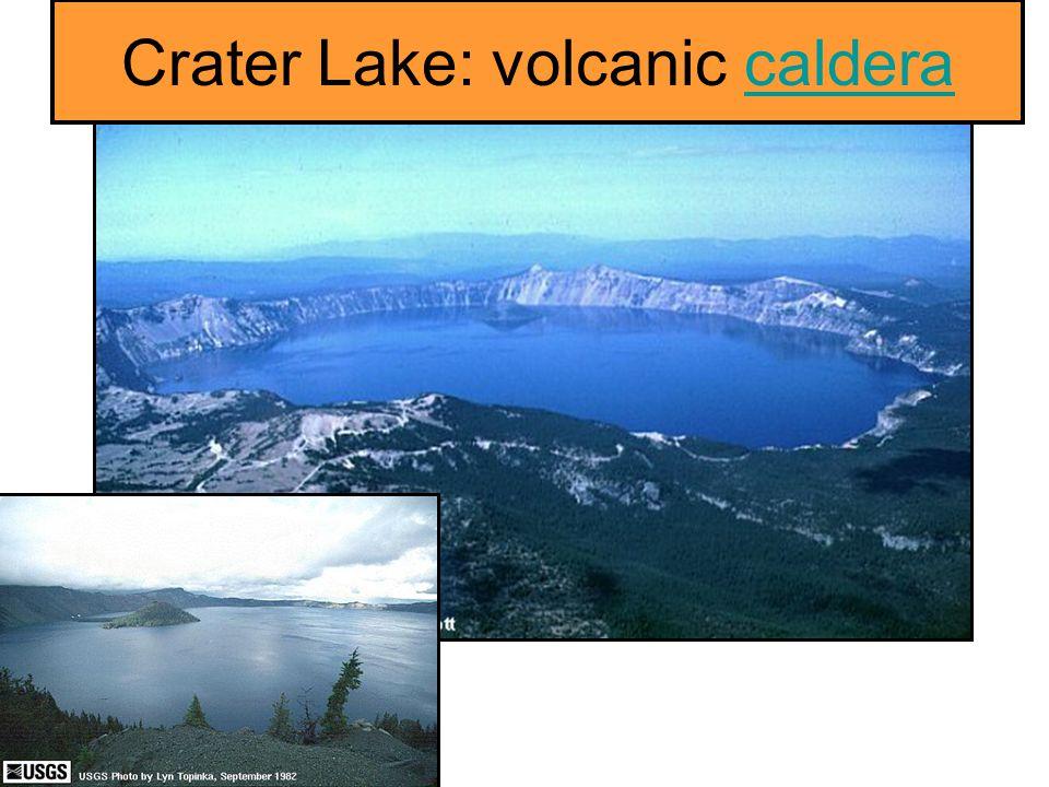 Crater Lake: volcanic caldera