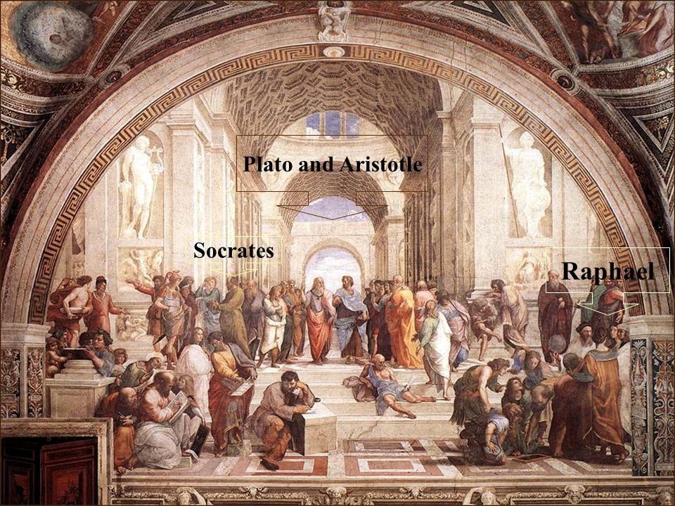 Plato and Aristotle Socrates Raphael