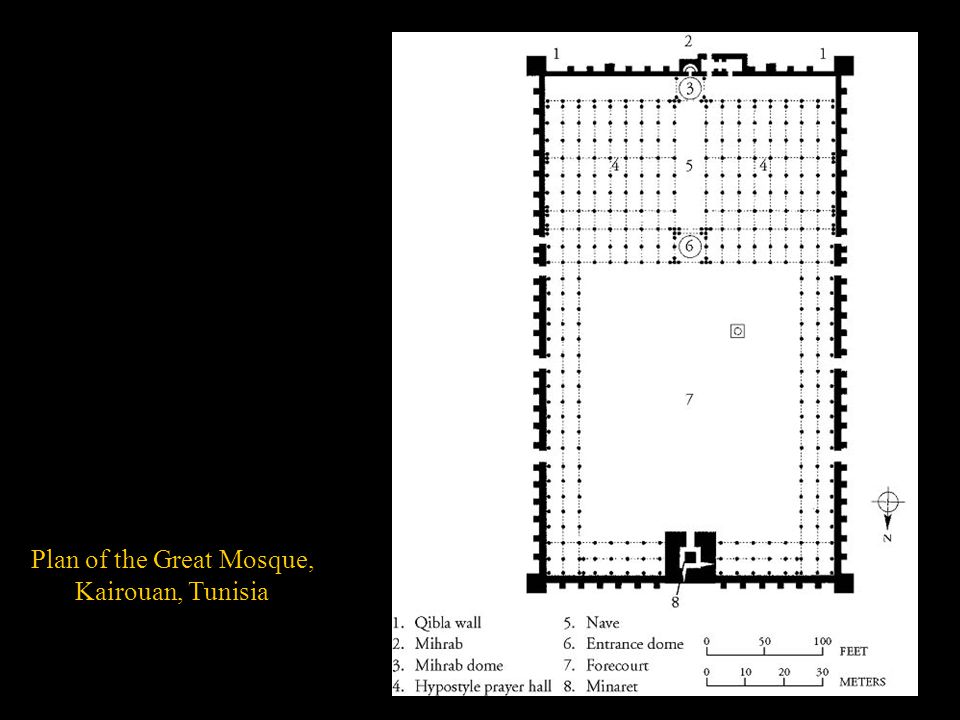 Plan of the Great Mosque,