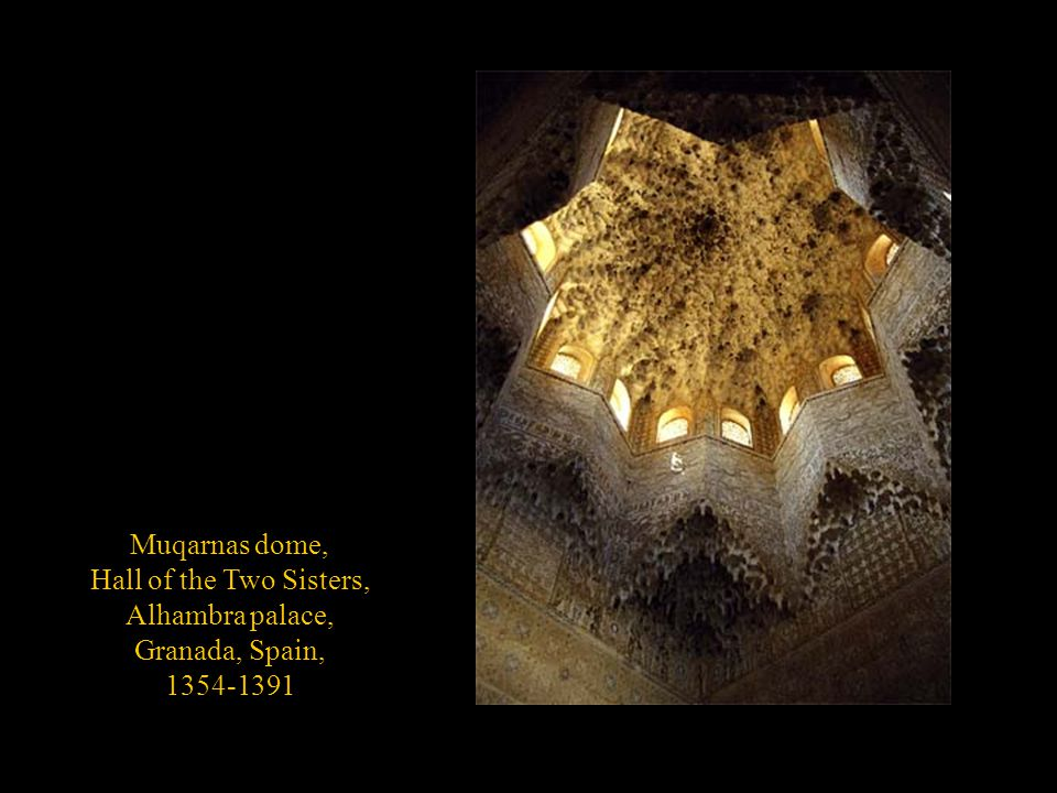 Muqarnas dome, Hall of the Two Sisters, Alhambra palace, Granada, Spain, 1354-1391