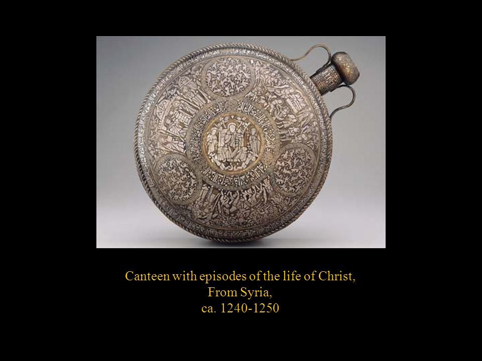 Canteen with episodes of the life of Christ,