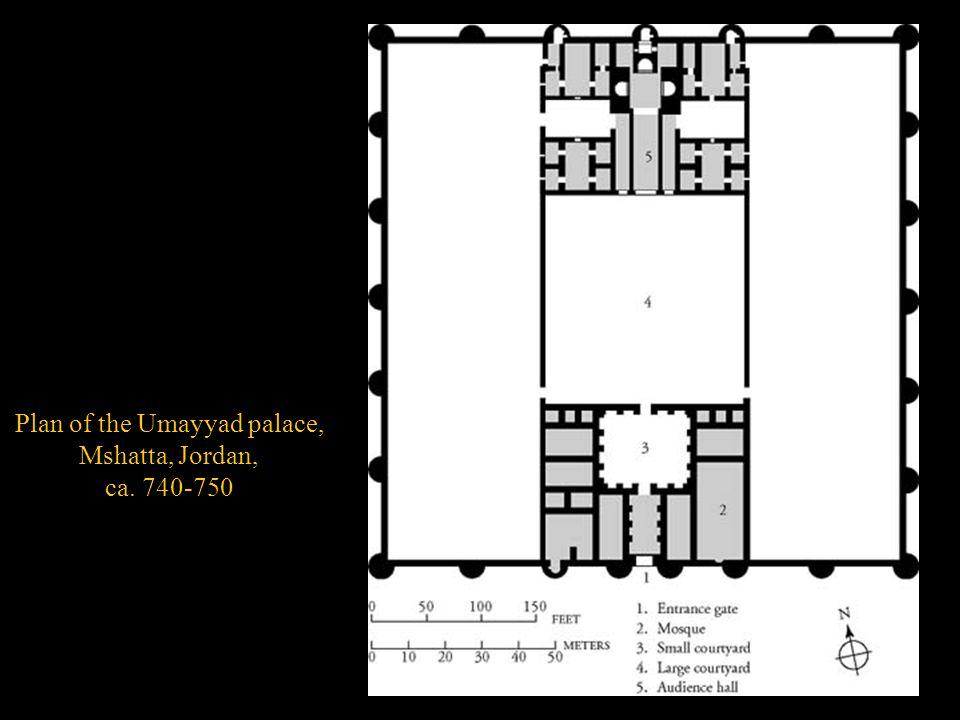 Plan of the Umayyad palace,