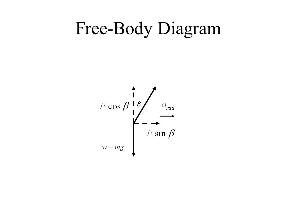 Free-Body Diagram b w = mg