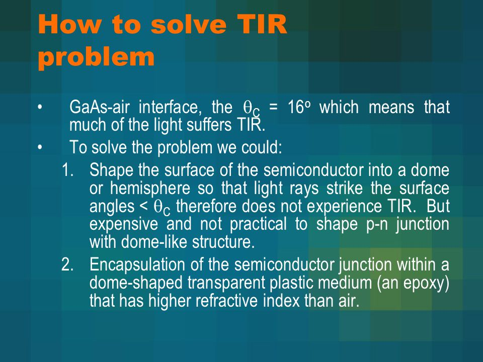How to solve TIR problem