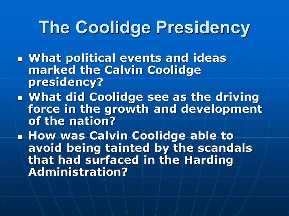 The Coolidge Presidency