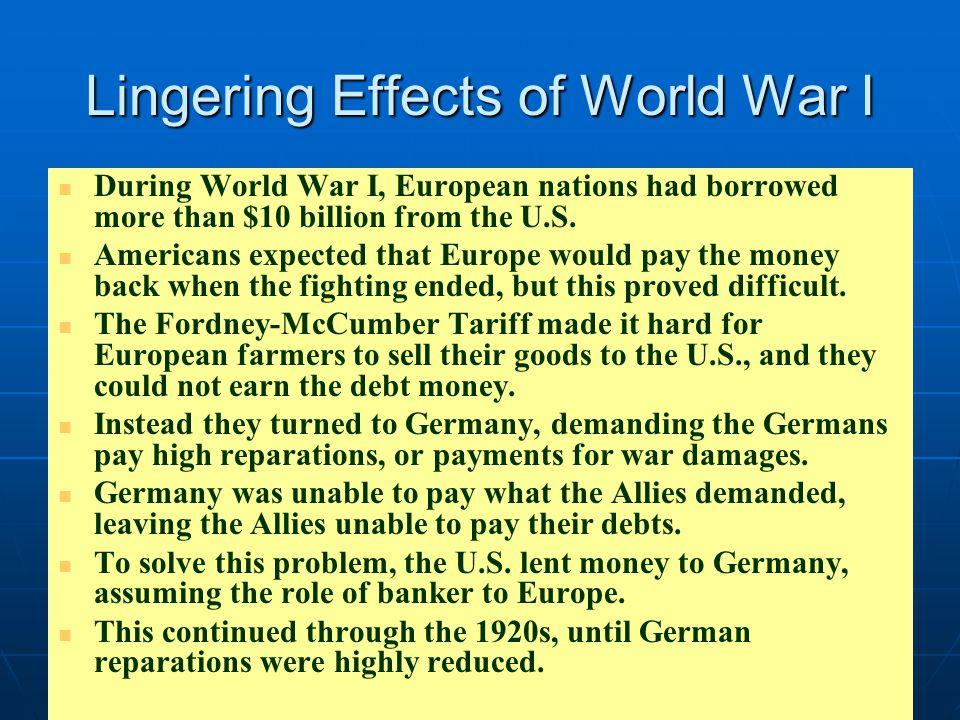 Lingering Effects of World War I