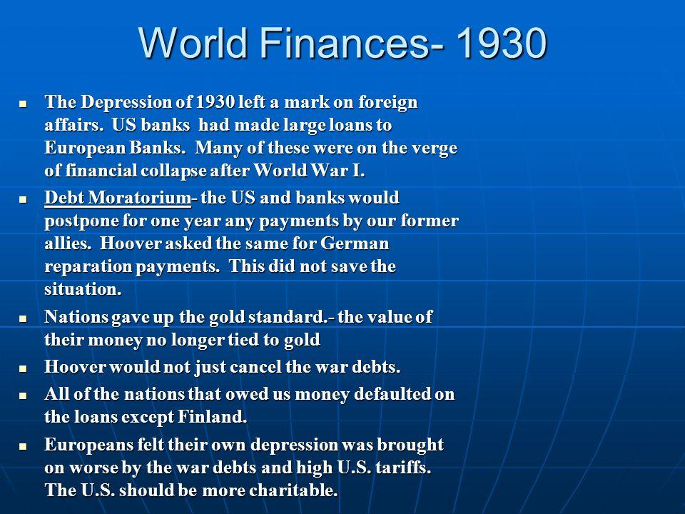 World Finances- 1930