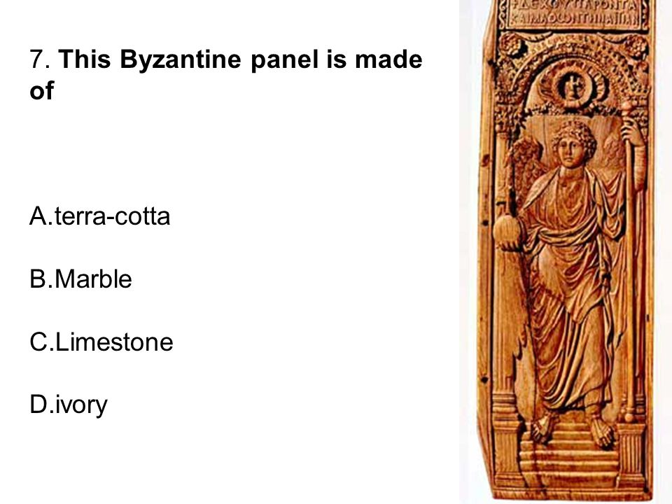 7. This Byzantine panel is made of