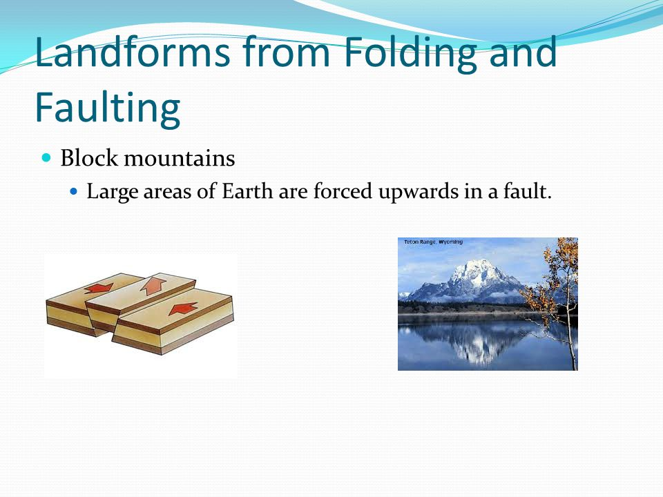 Landforms from Folding and Faulting