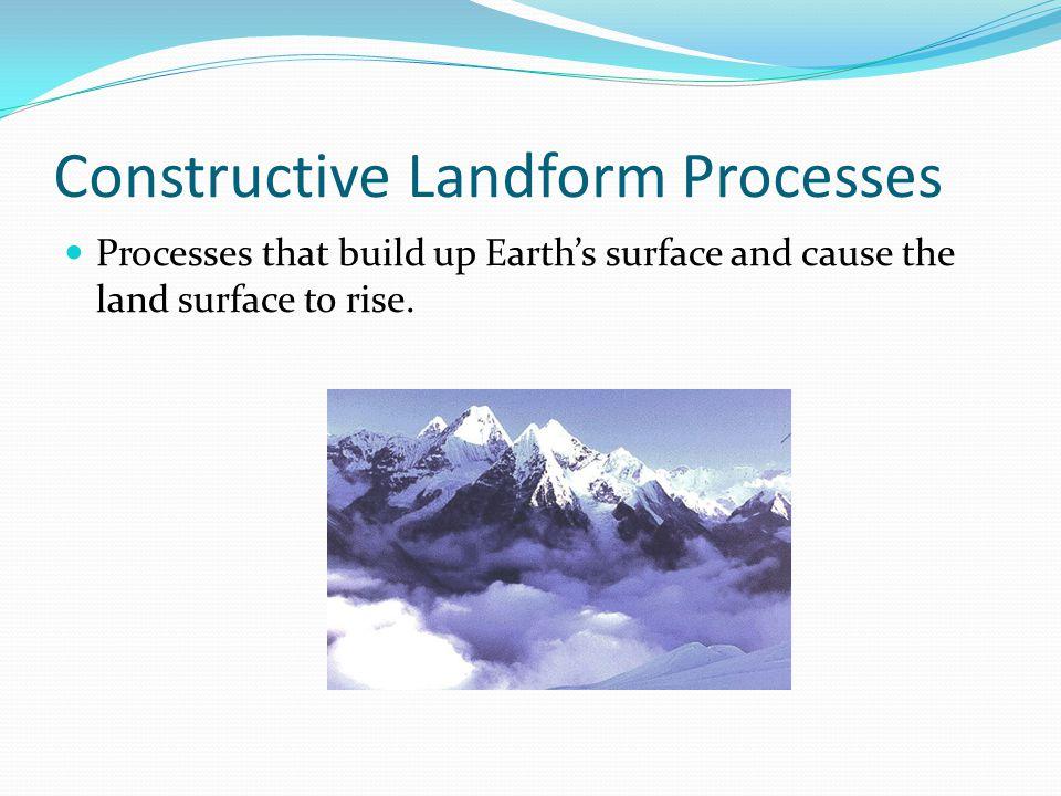 Constructive Landform Processes
