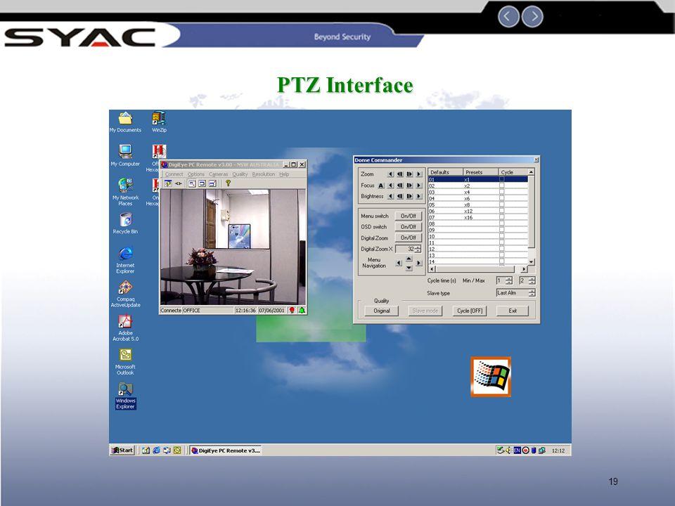 PTZ Interface