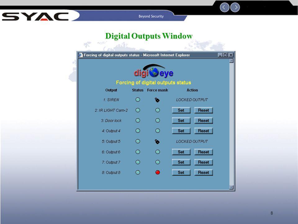 Digital Outputs Window