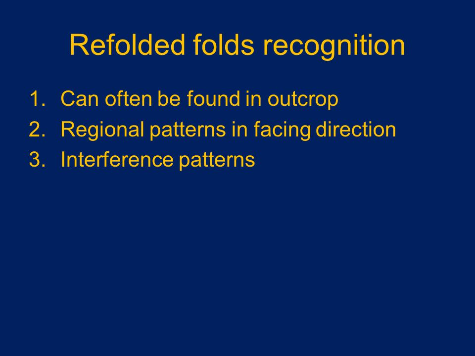 Refolded folds recognition