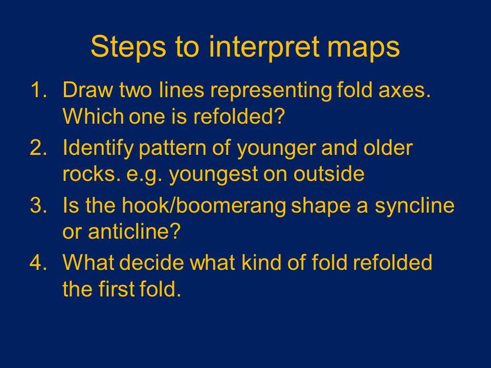 Steps to interpret maps