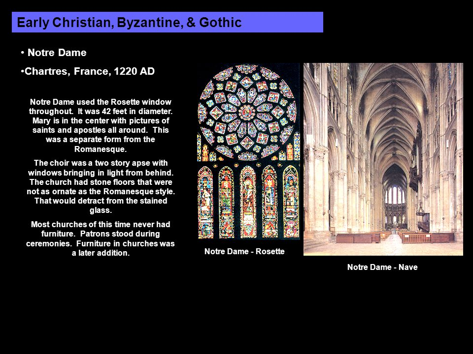 Early Christian, Byzantine, & Gothic