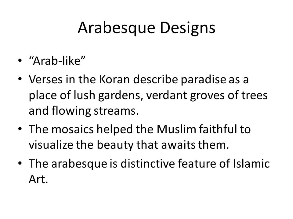 Arabesque Designs Arab-like