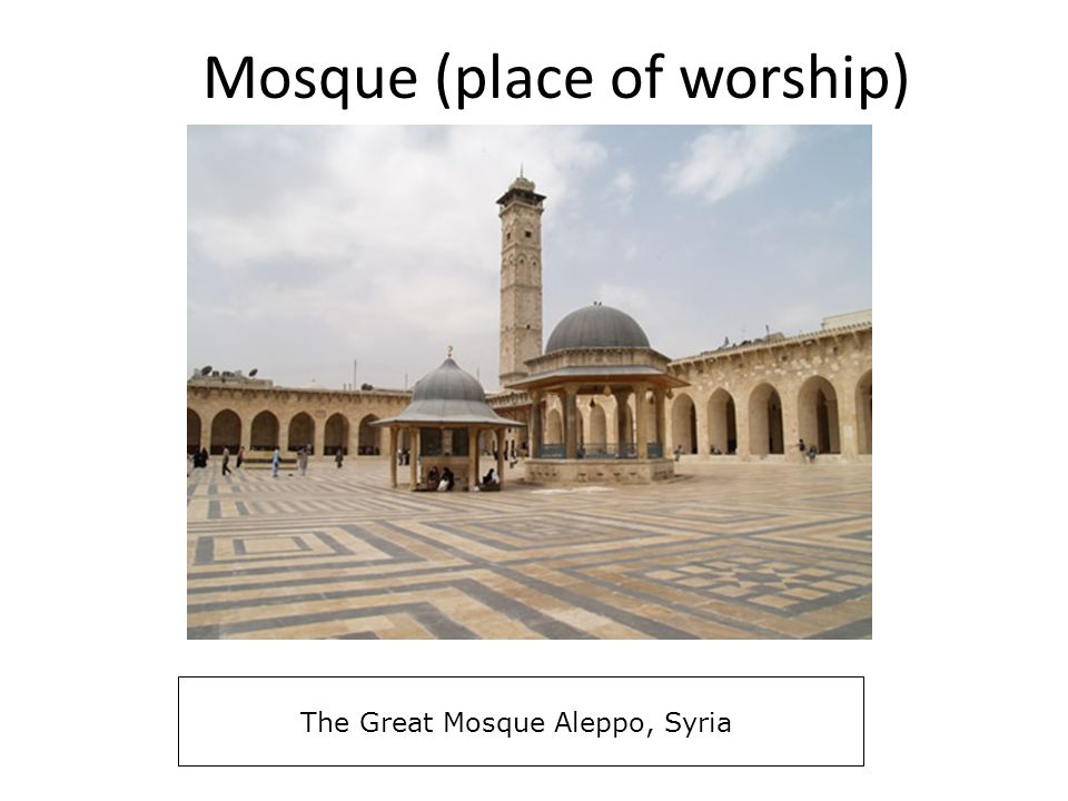 Mosque (place of worship)