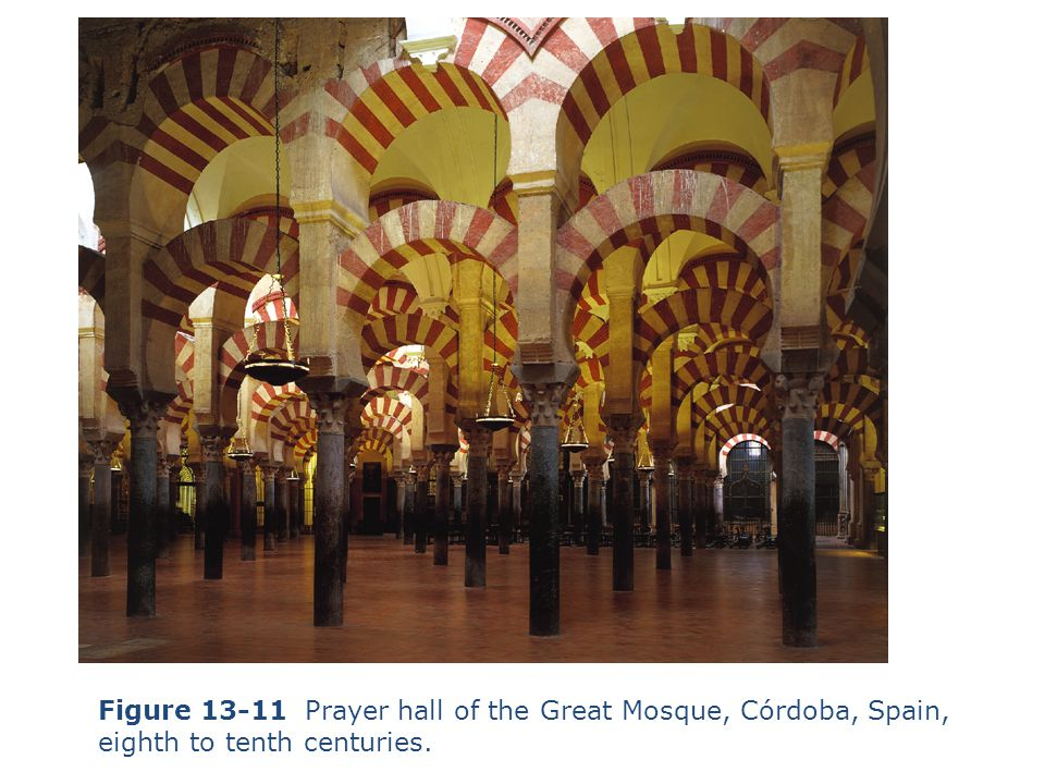 Figure 13-11 Prayer hall of the Great Mosque, Córdoba, Spain,