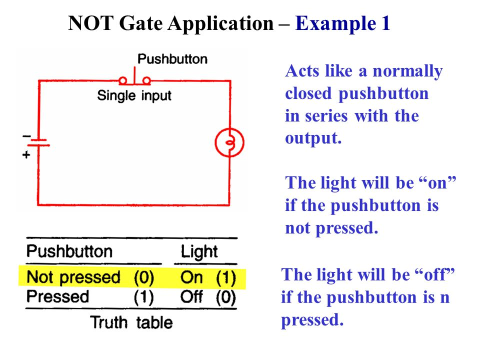 NOT Gate Application – Example 1