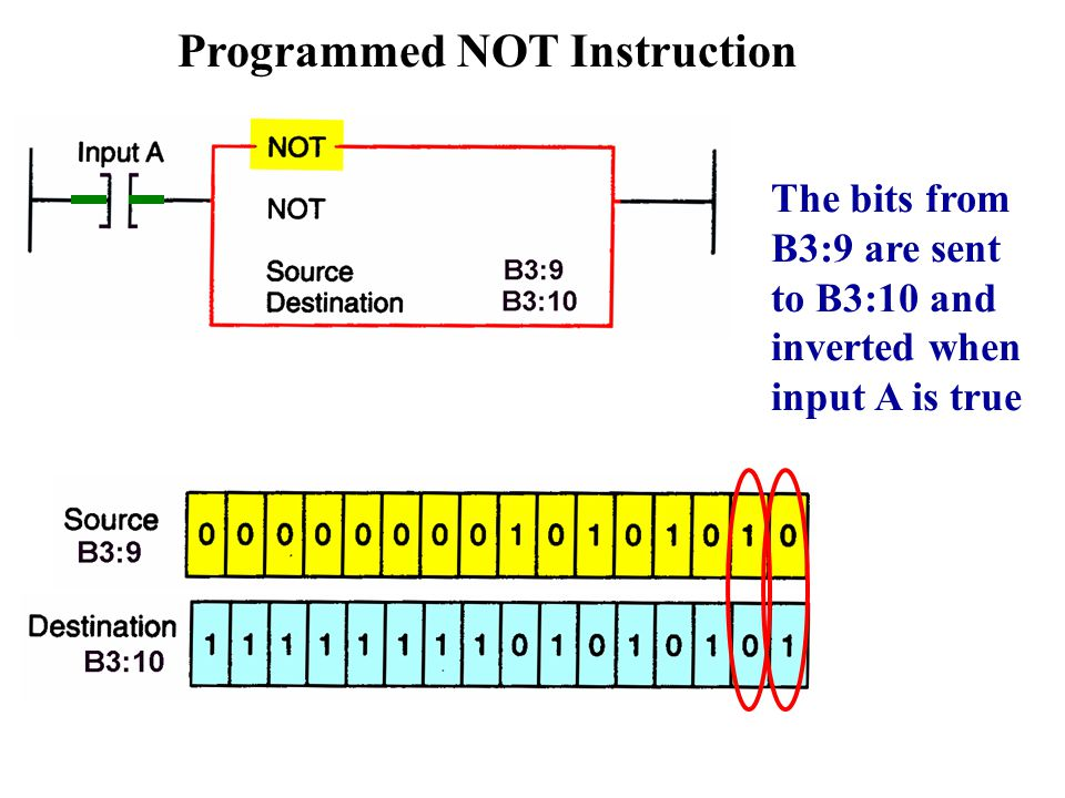 Programmed NOT Instruction