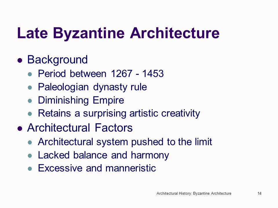 Late Byzantine Architecture