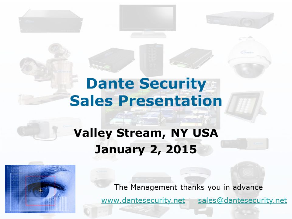 Dante Security Sales Presentation