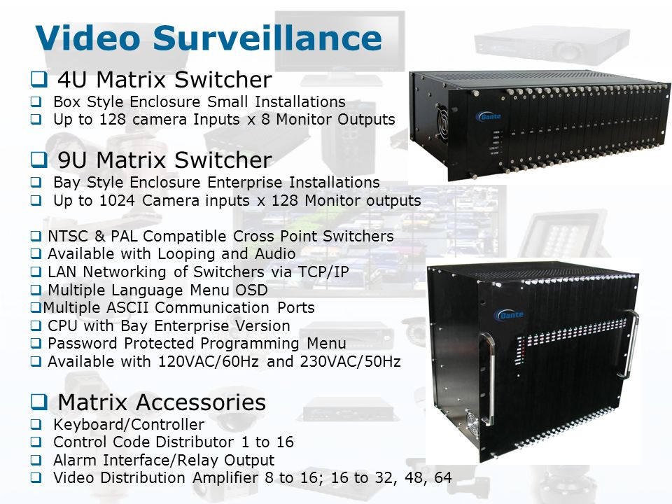 Video Surveillance 4U Matrix Switcher 9U Matrix Switcher