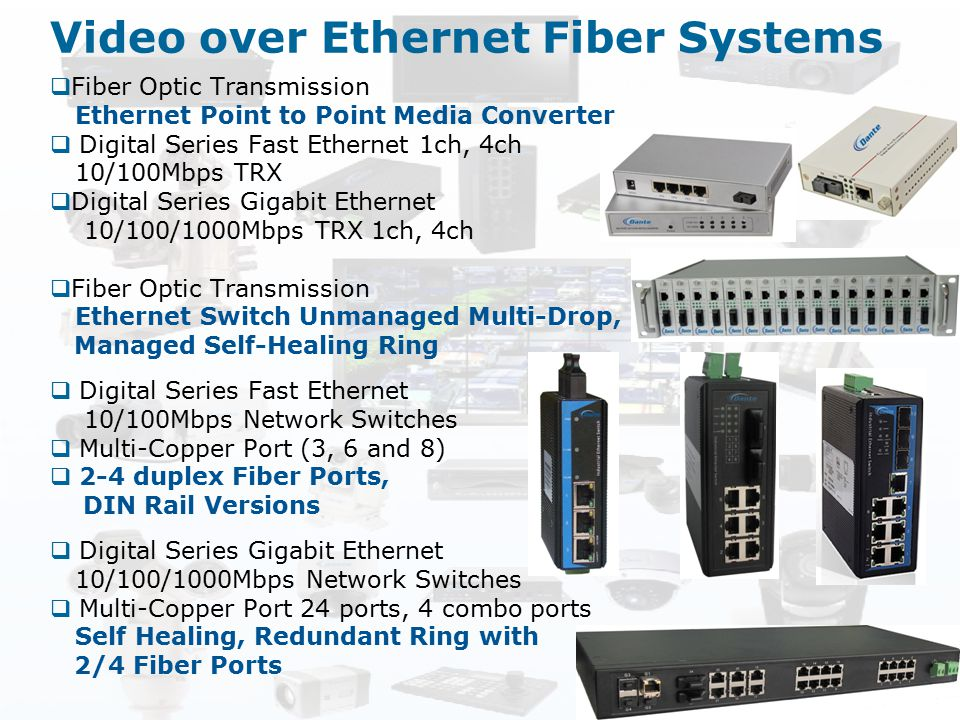 Video over Ethernet Fiber Systems