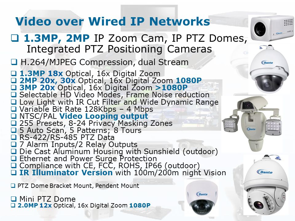 Video over Wired IP Networks