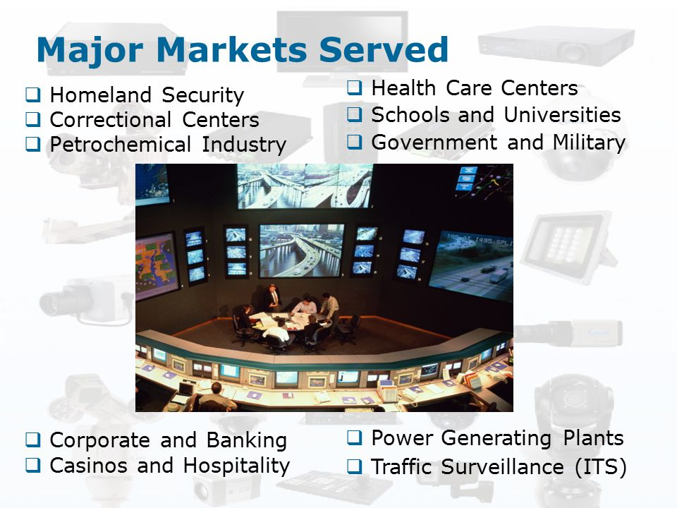 Major Markets Served Homeland Security Health Care Centers