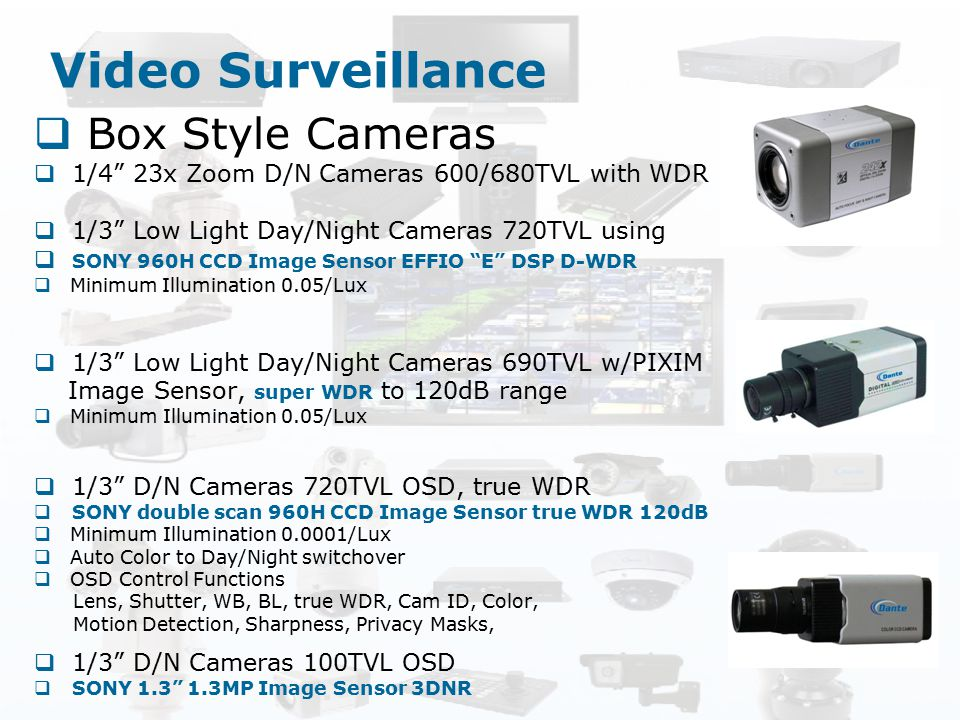 Video Surveillance Box Style Cameras