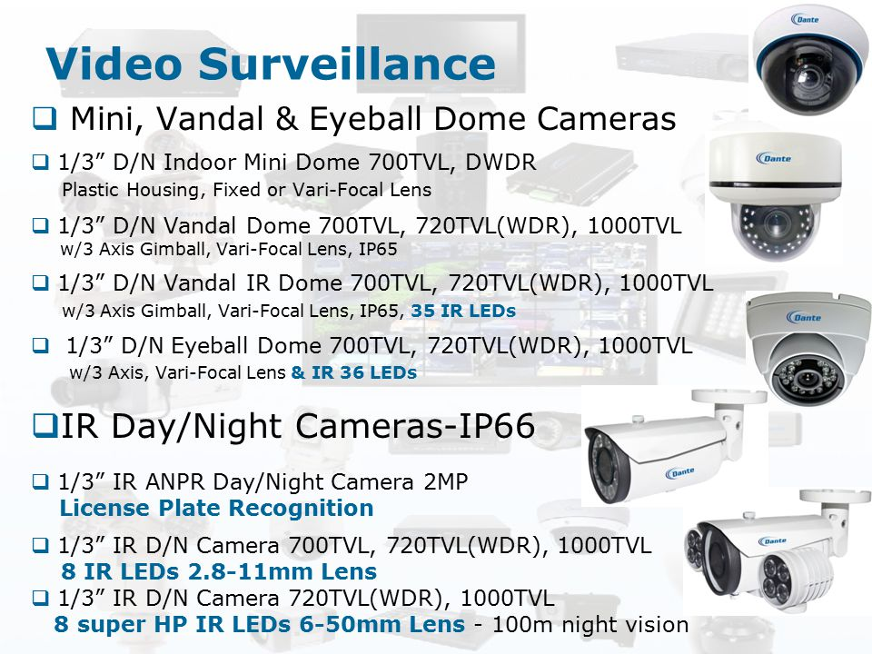 Video Surveillance IR Day/Night Cameras-IP66