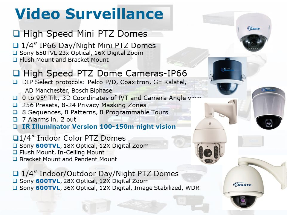 Video Surveillance High Speed Mini PTZ Domes