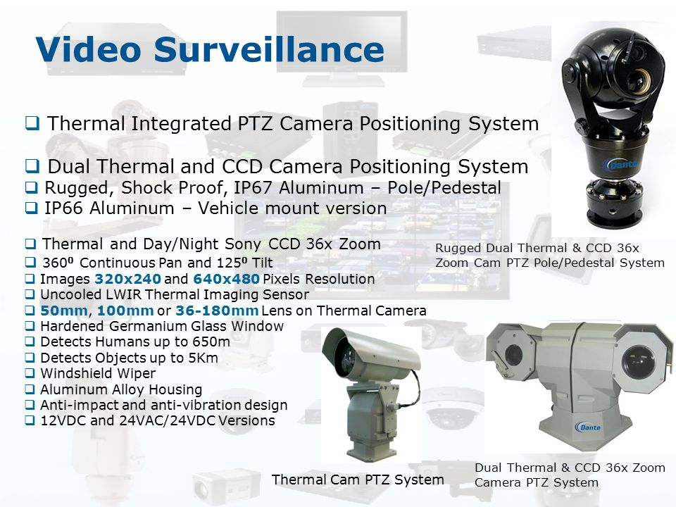 Video Surveillance Thermal Integrated PTZ Camera Positioning System