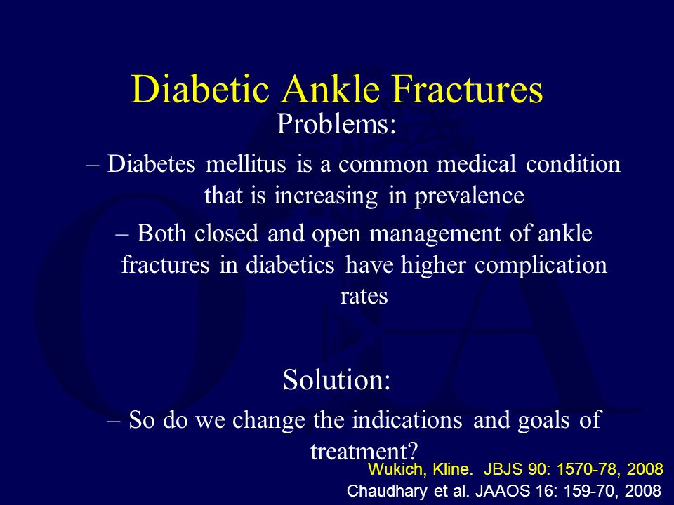Diabetic Ankle Fractures