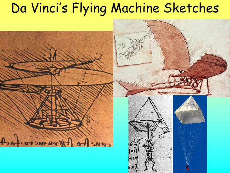 Da Vinci's Flying Machine Sketches