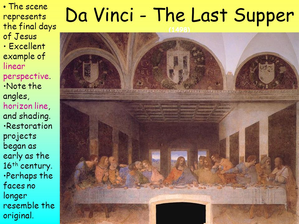 Da Vinci - The Last Supper (1498)