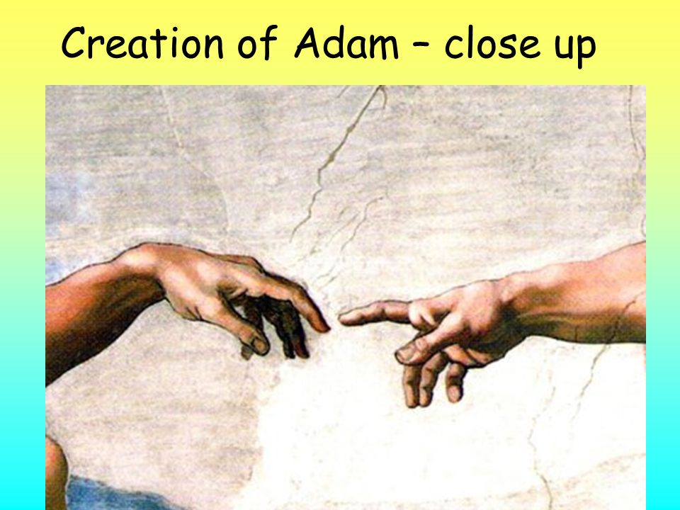 Creation of Adam – close up