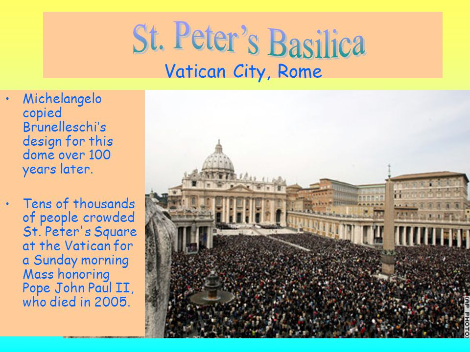 St. Peter's Basilica Vatican City, Rome