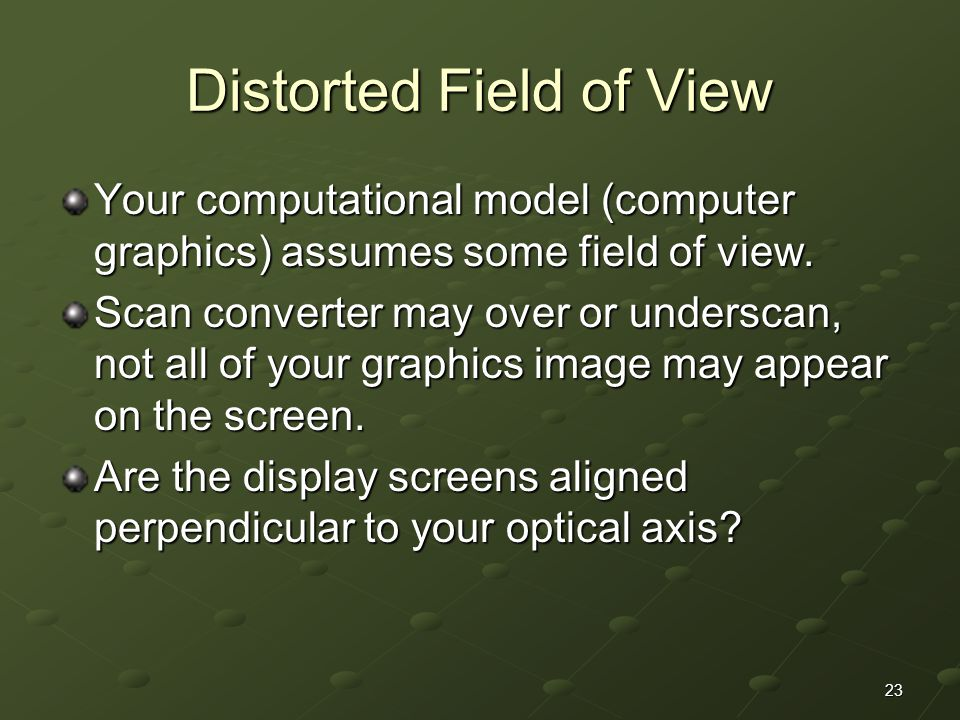 Distorted Field of View