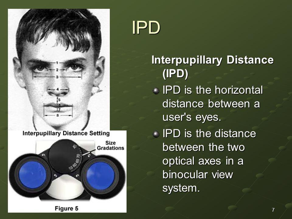IPD Interpupillary Distance (IPD)