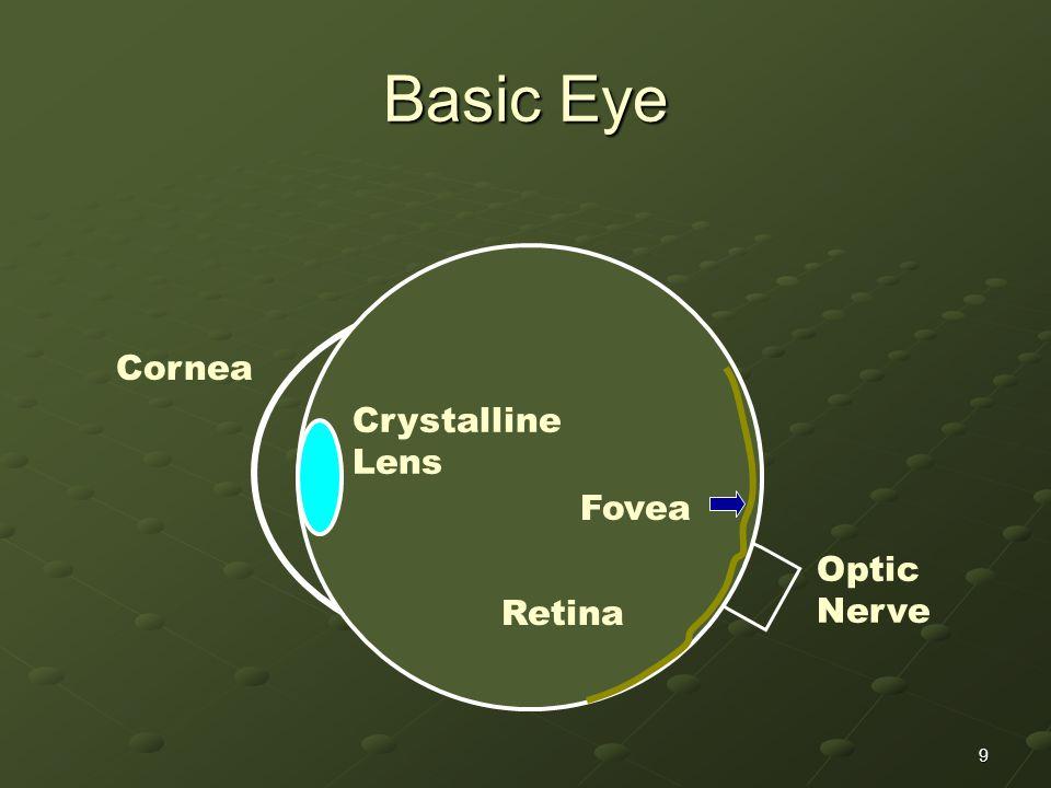 Basic Eye Cornea Crystalline Lens Fovea Retina Optic Nerve