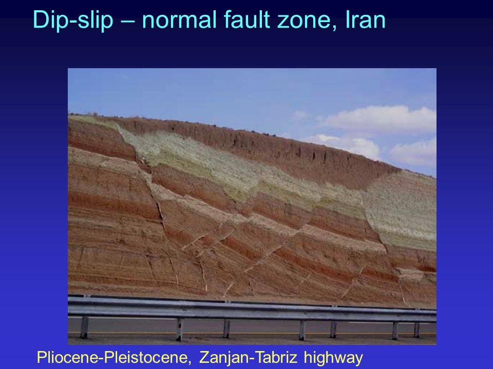 Dip-slip – normal fault zone, Iran
