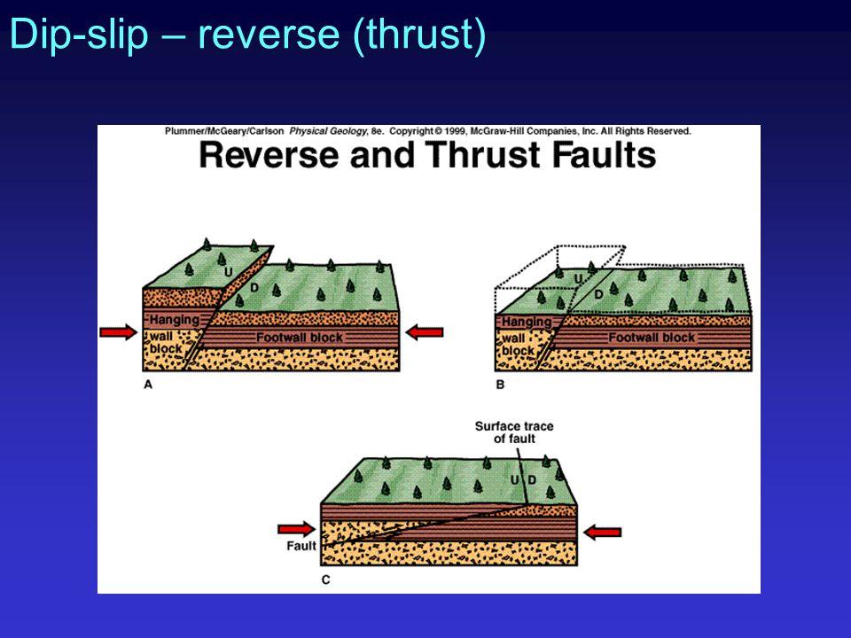Dip-slip – reverse (thrust)