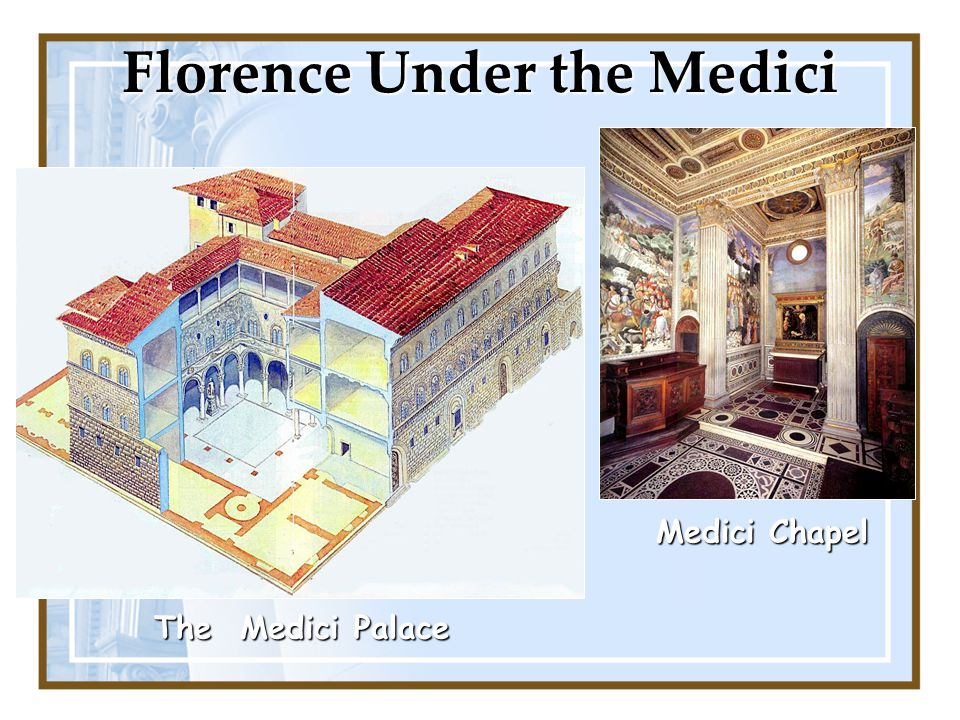 Florence Under the Medici
